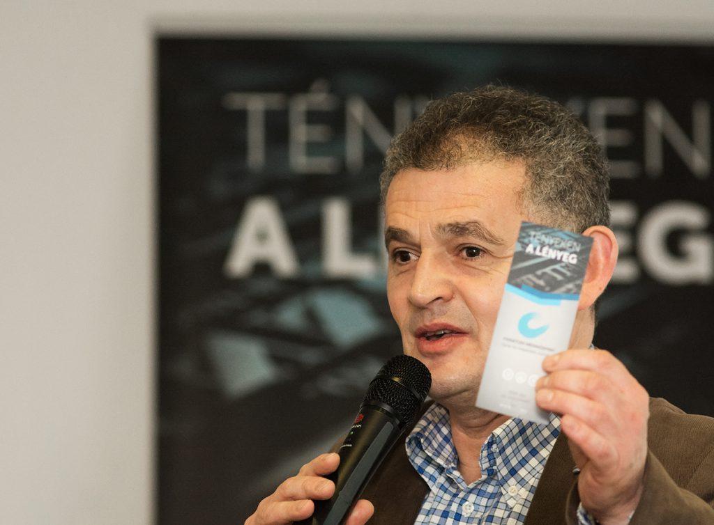 Orbán Sándor (CIJ) megnyitója (©Goethe-Institut Foto: Felvégi Andrea)